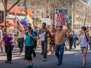 One Billion Rising Protest, Santa Cruz WILPF, 2015