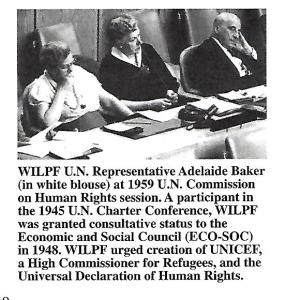 Adelaide Baker, The UN Commission on Human Rights Session, 1959