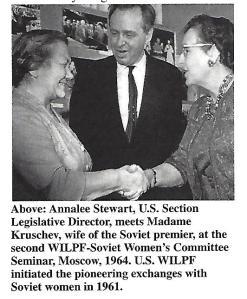 Annalee Stewart with Madame Kruschev