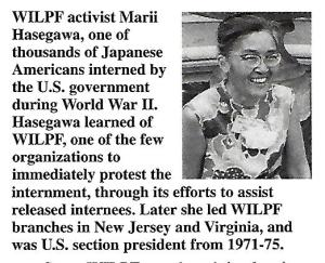 Marii Hasegawa, Japanese American interned during WWII.