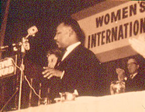 Martin Luther King, Jr Addresses WILPF 50th Anniversary Event, 1965.