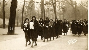 Women Walking with Petition to League of Nations, 1932, Geneva