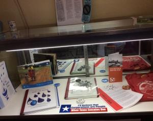 WILPF materials on display.