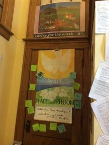 WILPF Display in Bloomington, Indiana